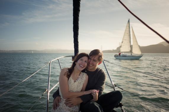 Sailing in Sausalito · San Francisco Engagement