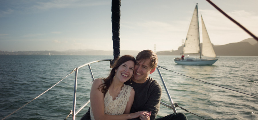 Sailing in Sausalito · San Francisco Engagement