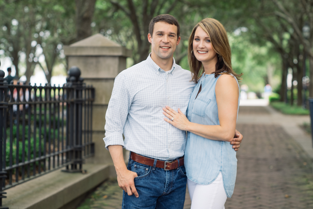 Engagement photography session for Elaine and Turner in downtown Charleston, South Carolina with Leica M240 and Sony a7ii