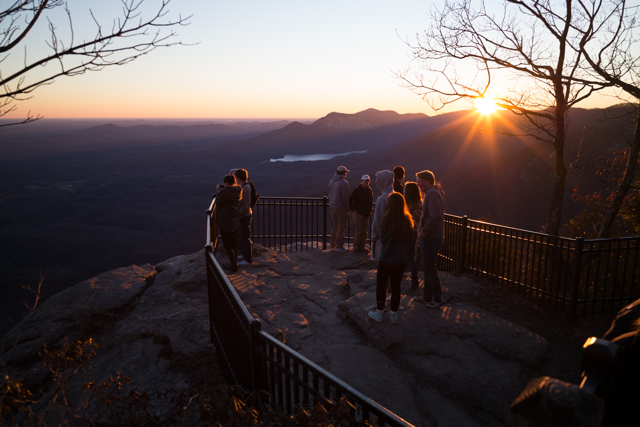 Sunset at Caesar's Head, towards table rock, just north of Greenville, SC