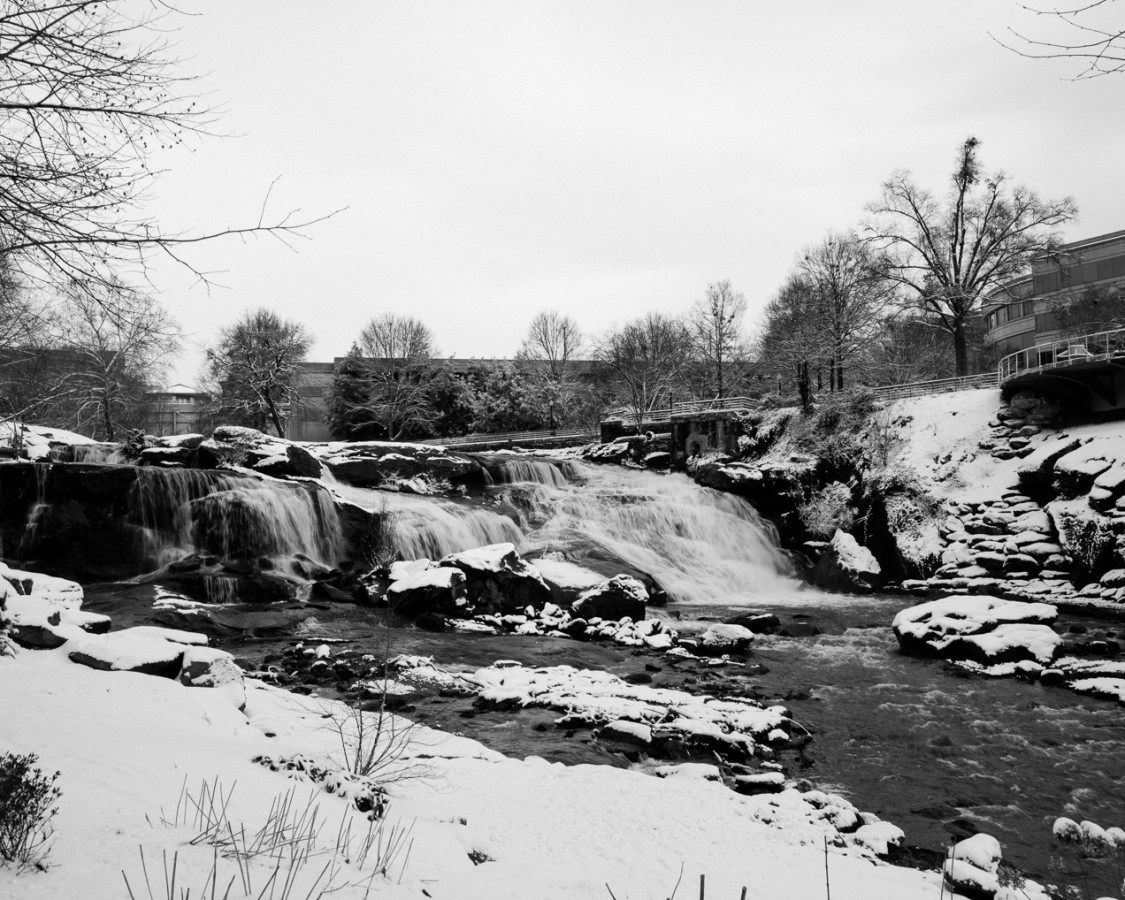 Greenville Covered in Snow
