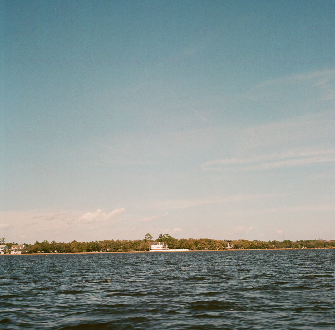 On the waters of Charleston with the Rollei